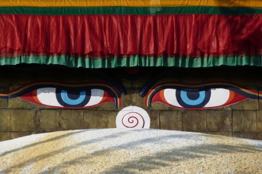 enlightenment eyes boudnath