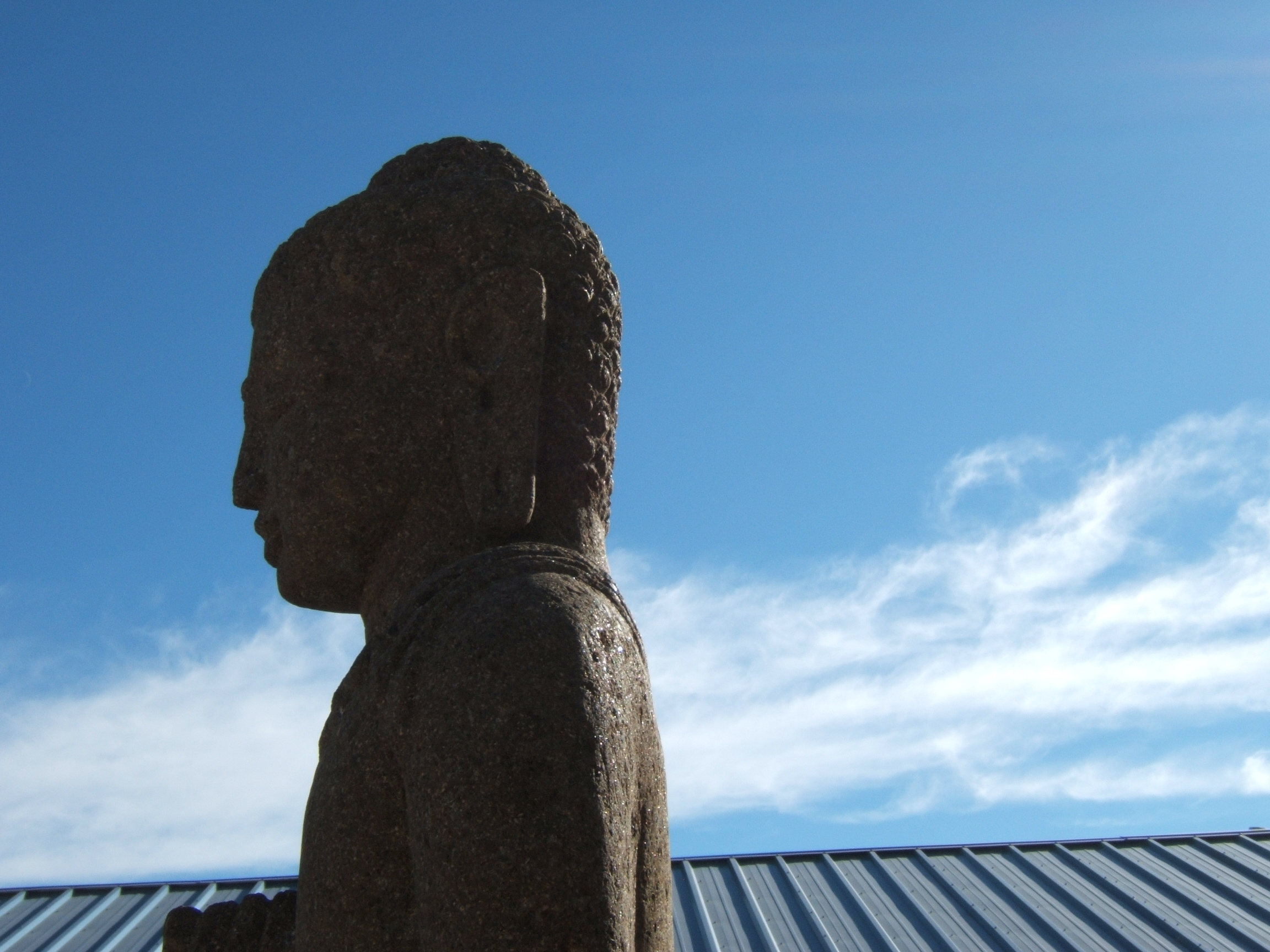 Buddha statue sky